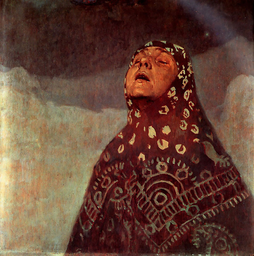 Alfons Mucha. Winter night