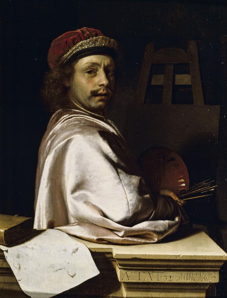 Франц ван Мирис Старший. Автопортрет