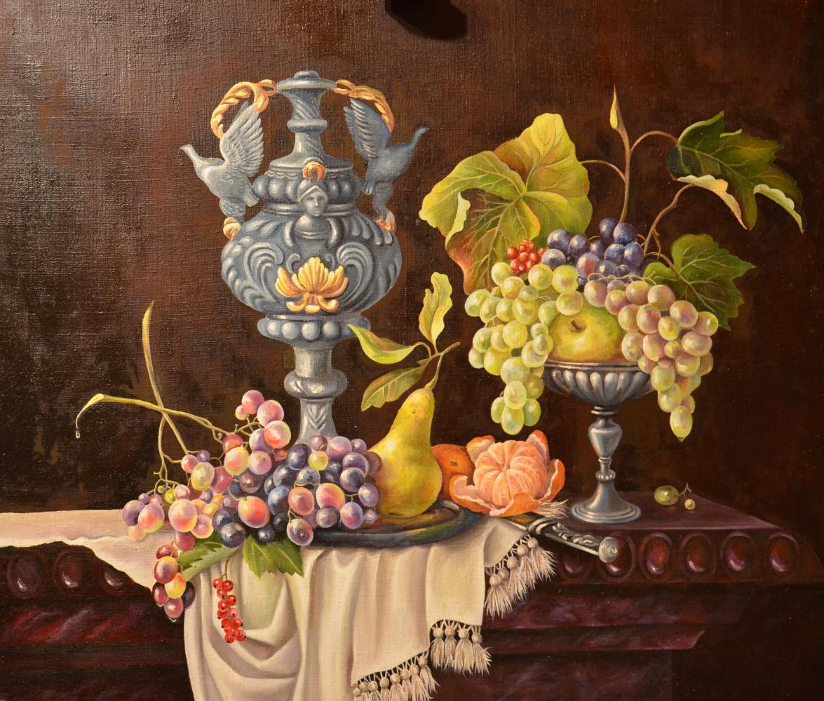Eleonora Vladimirovna Chirkova. Still life with grapes