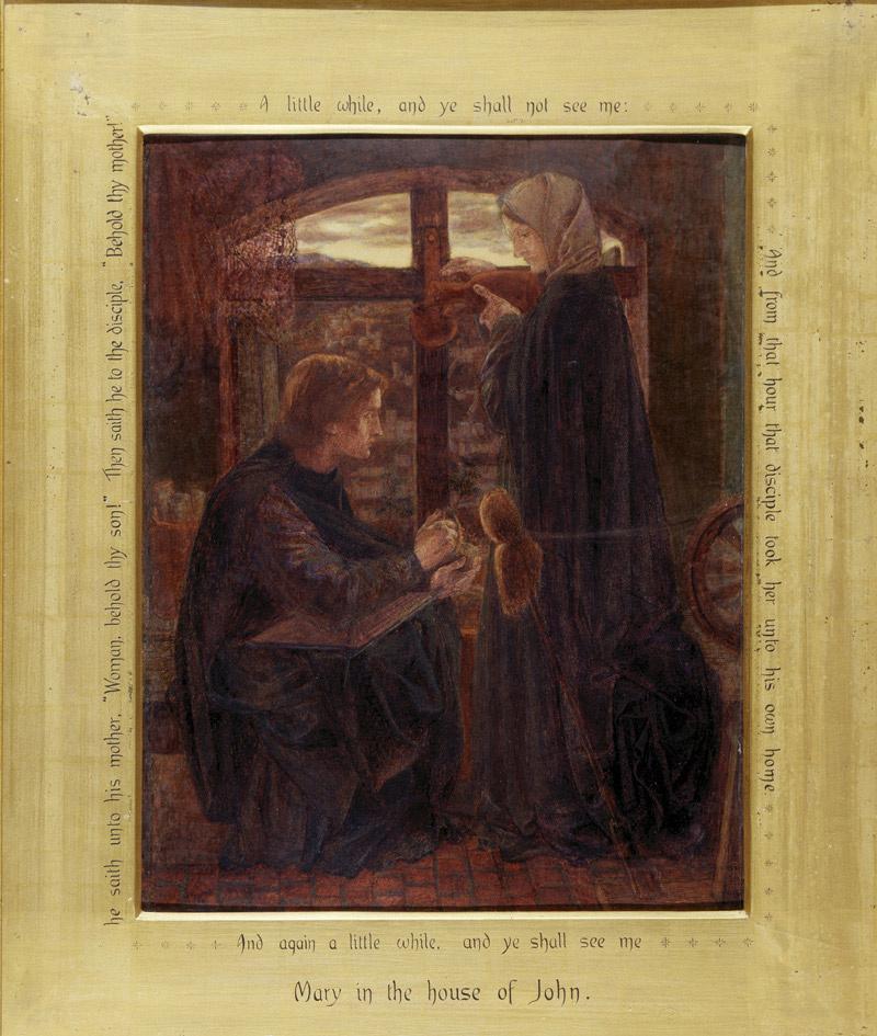 Данте Габриэль Россетти. Мария в доме Св. Иоанна. Эскиз