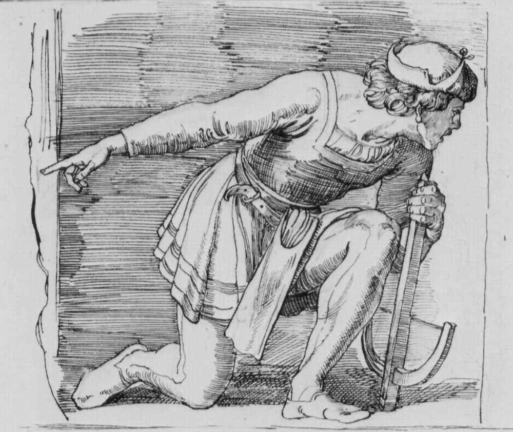 Юлиус Шнорр фон Карольсфельд. Коленопреклоненный стрелок из арбалета