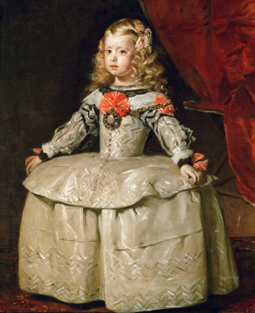 Diego Velazquez. Portrait of the Infanta Margarita in a white dress