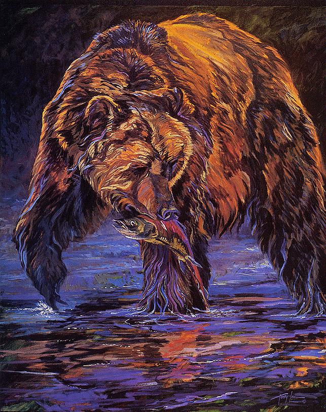 Терри Ли. Медведь с уловом