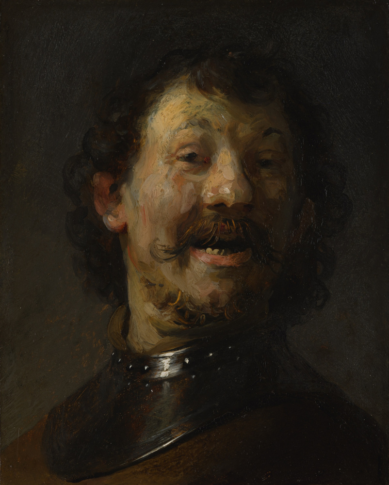 Rembrandt Harmenszoon van Rijn. The laughing man