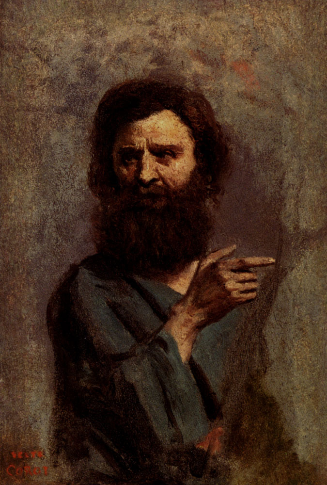 Камиль Коро. Глава бородатого мужчины