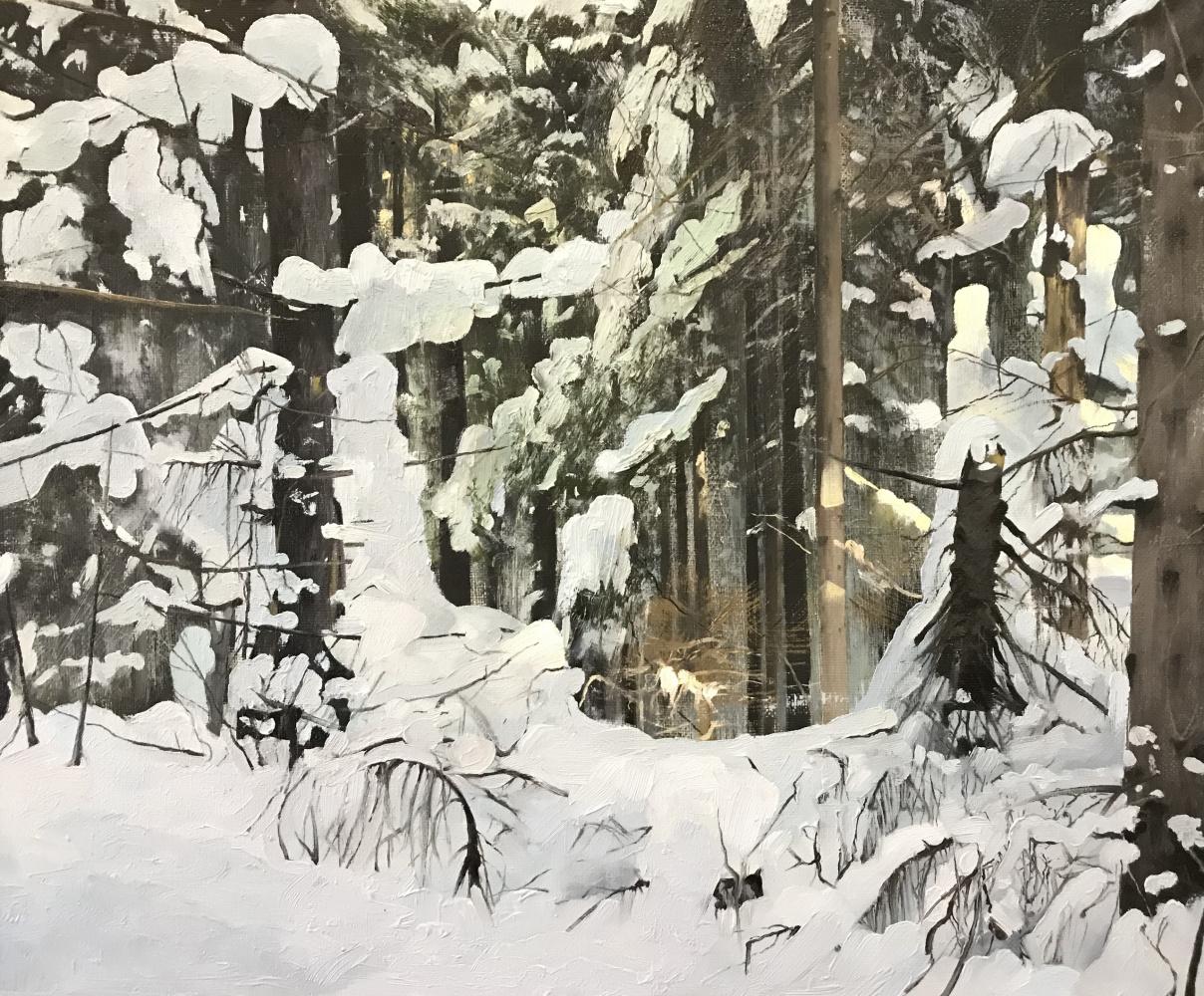 Andrey Sergeevich Khmelevsky. Зимний лес