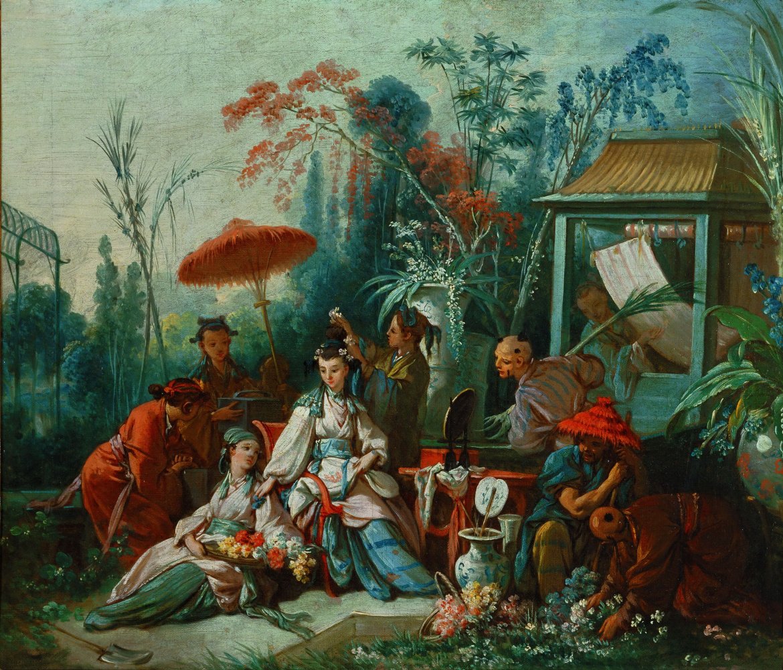 Francois Boucher. Chinese garden