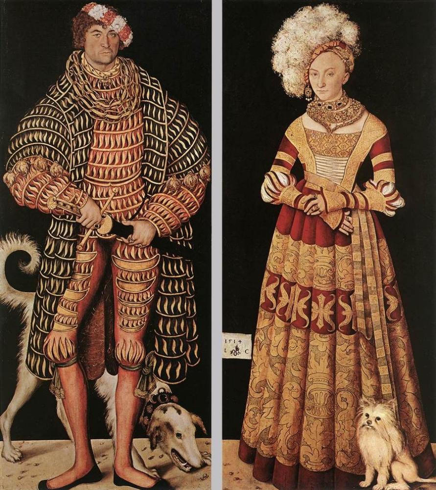 Лукас Кранах Старший. Портрет Генри Благочестивого, герцога Саксонии и его жены Катарины фон Мекленбург
