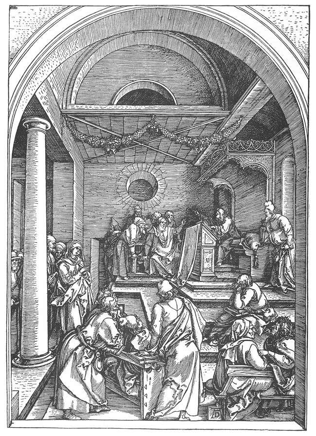 Альбрехт Дюрер. Христос среди книжников