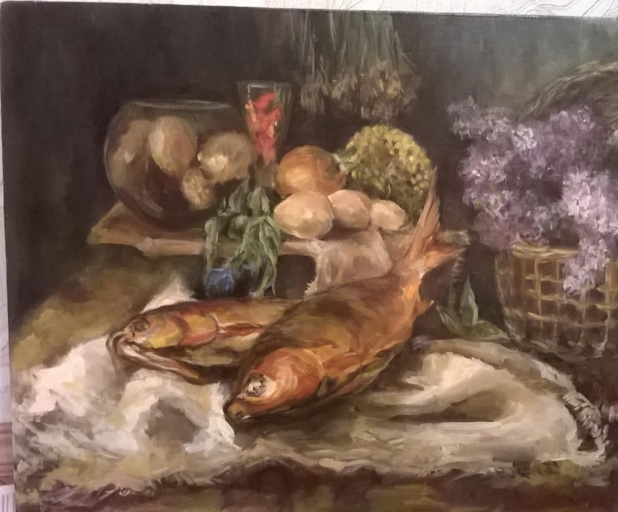 Виктория Викторовна Верхолазова. Натюрморт с рыбой