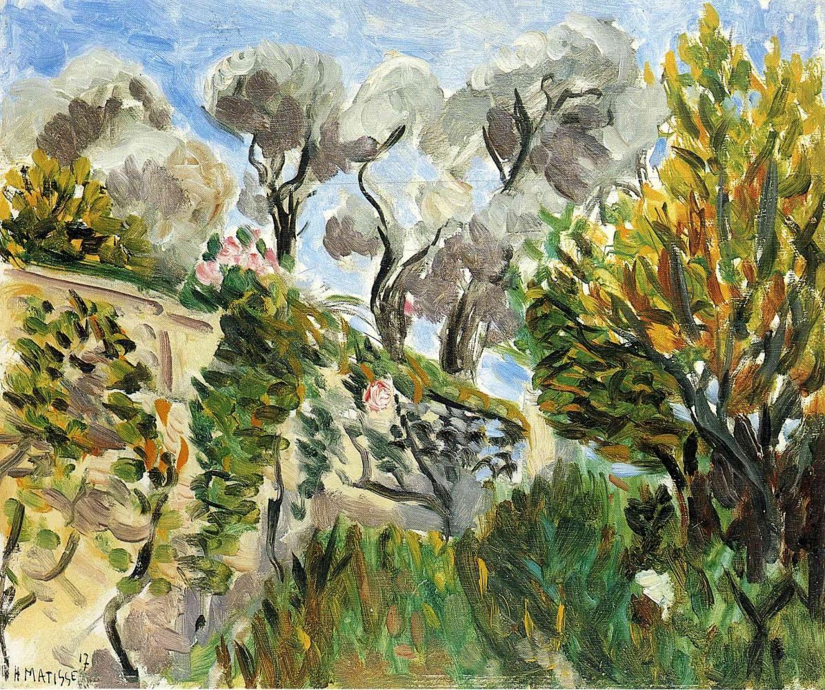 Анри Матисс. Пейзаж с цветущими кустами