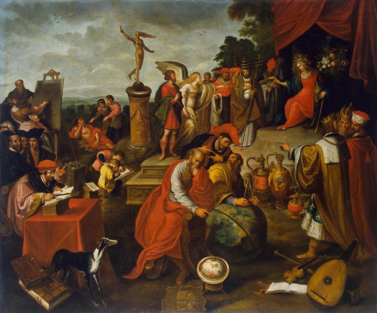 Франс Франкен Младший. Аллегория случая. 1627