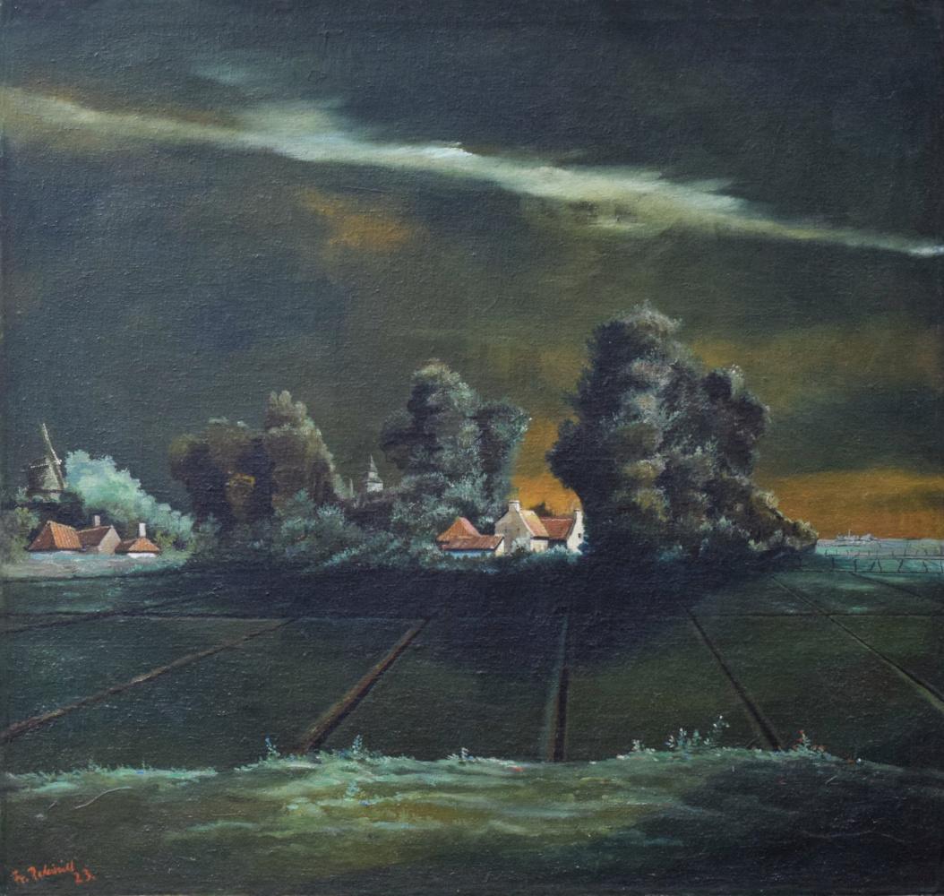 Franz Radziwill. Thundery Landscape