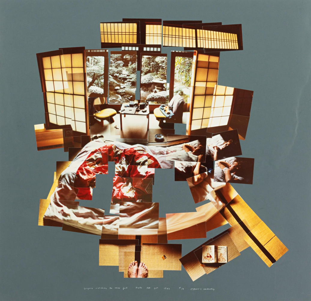 David Hockney. Gregory, looking at the snow. Kyoto