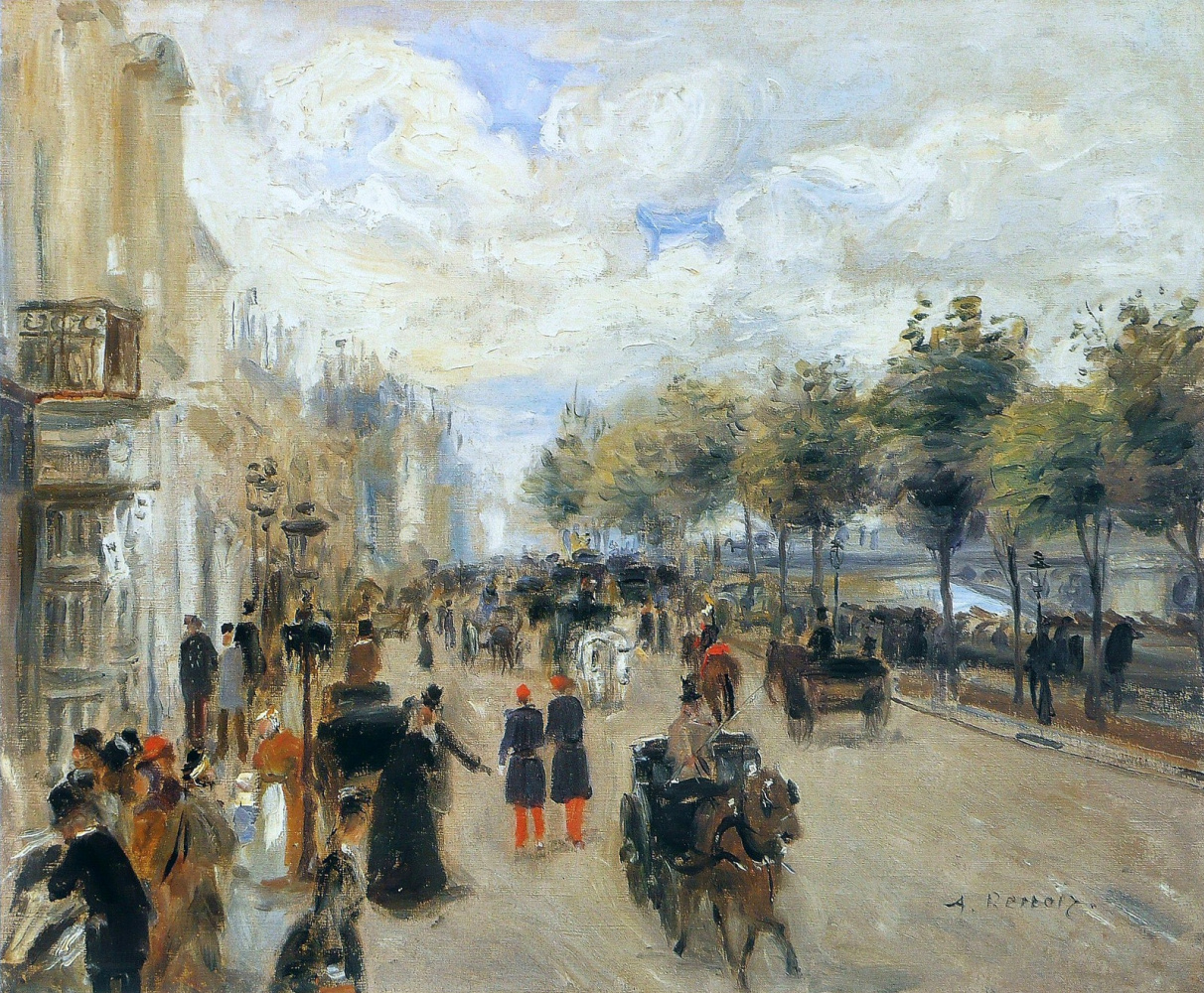 Pierre-Auguste Renoir. Paris, Malac embankment
