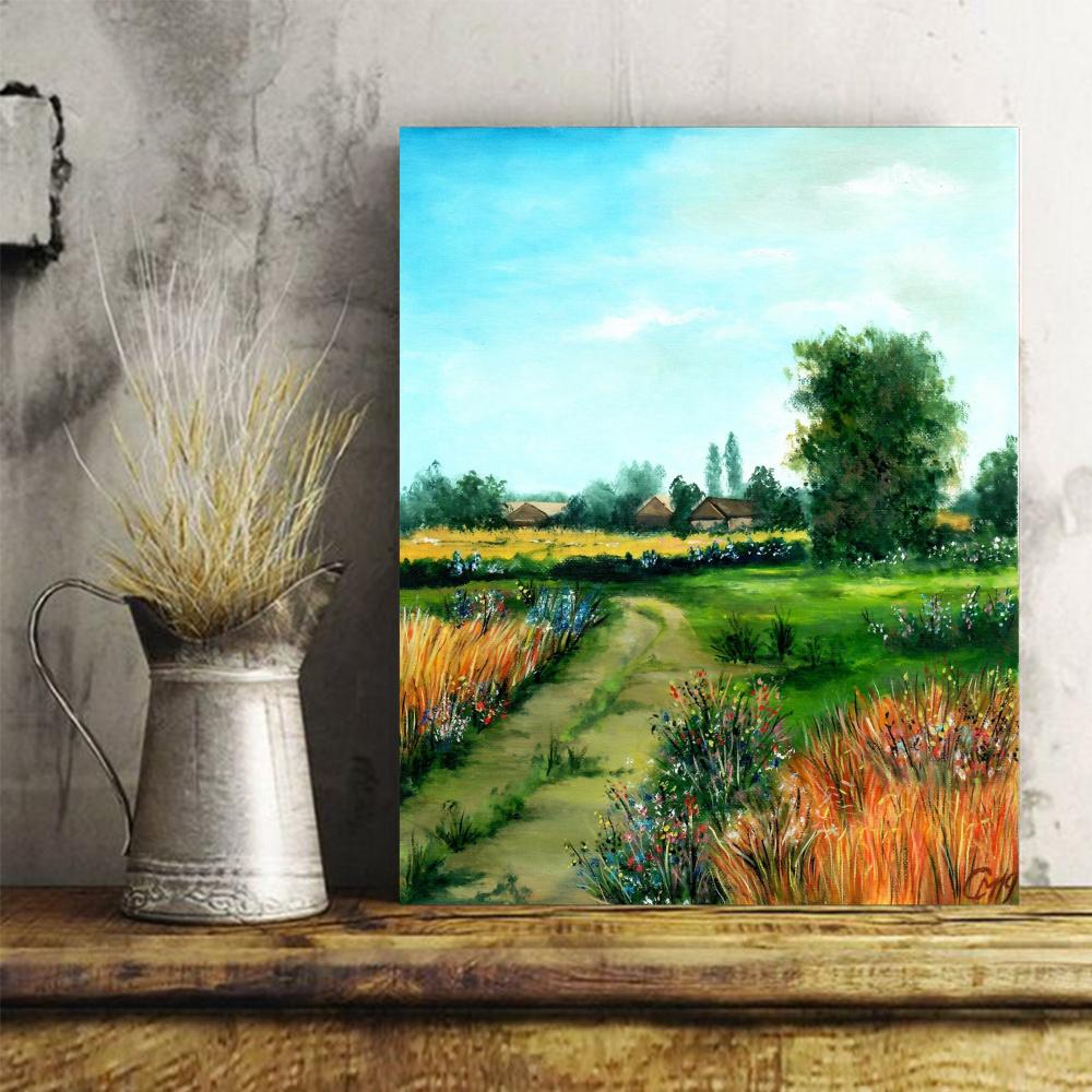 """Мария Евгеньевна Сироткина. Oil painting """"Bright noon"""""""