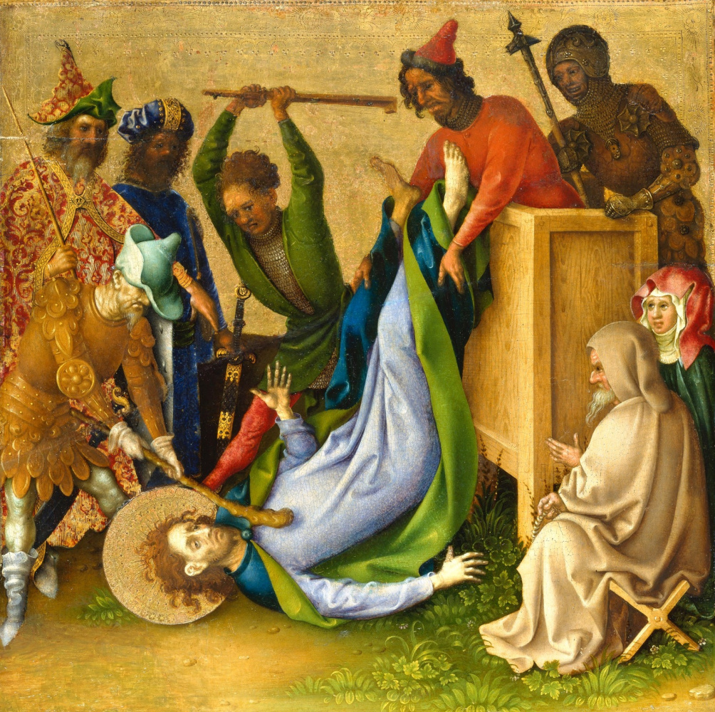 Stefan Lochner. The Martyrdom of St. James the Younger.