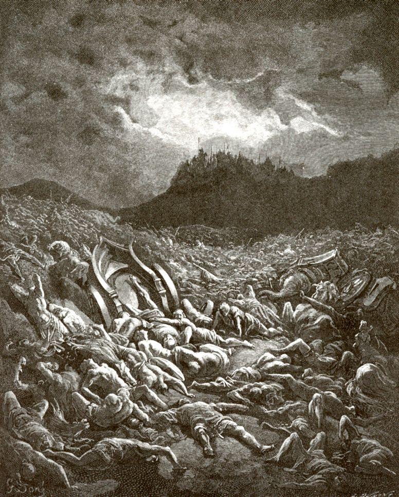 Поль Гюстав Доре. Победа Иосафата над Аммонитянами и Моавитянами