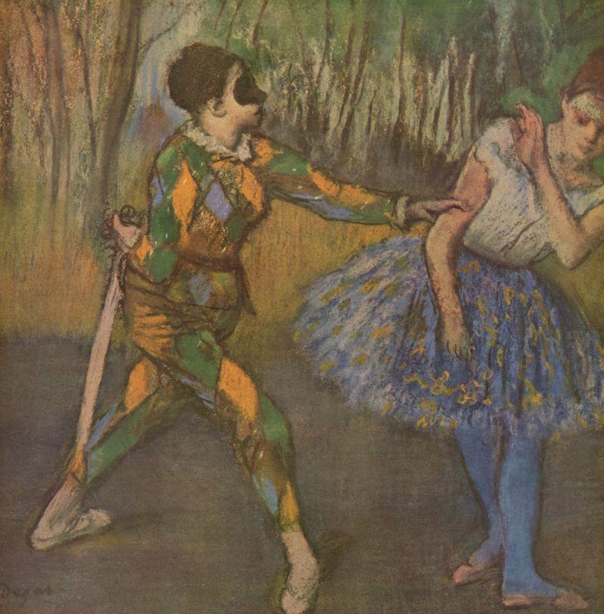 Эдгар Дега. Арлекин и Коломбина