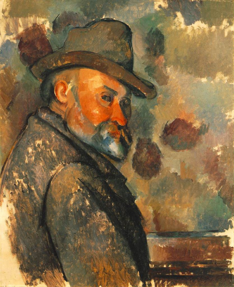 Paul Cezanne. Self portrait in a soft hat