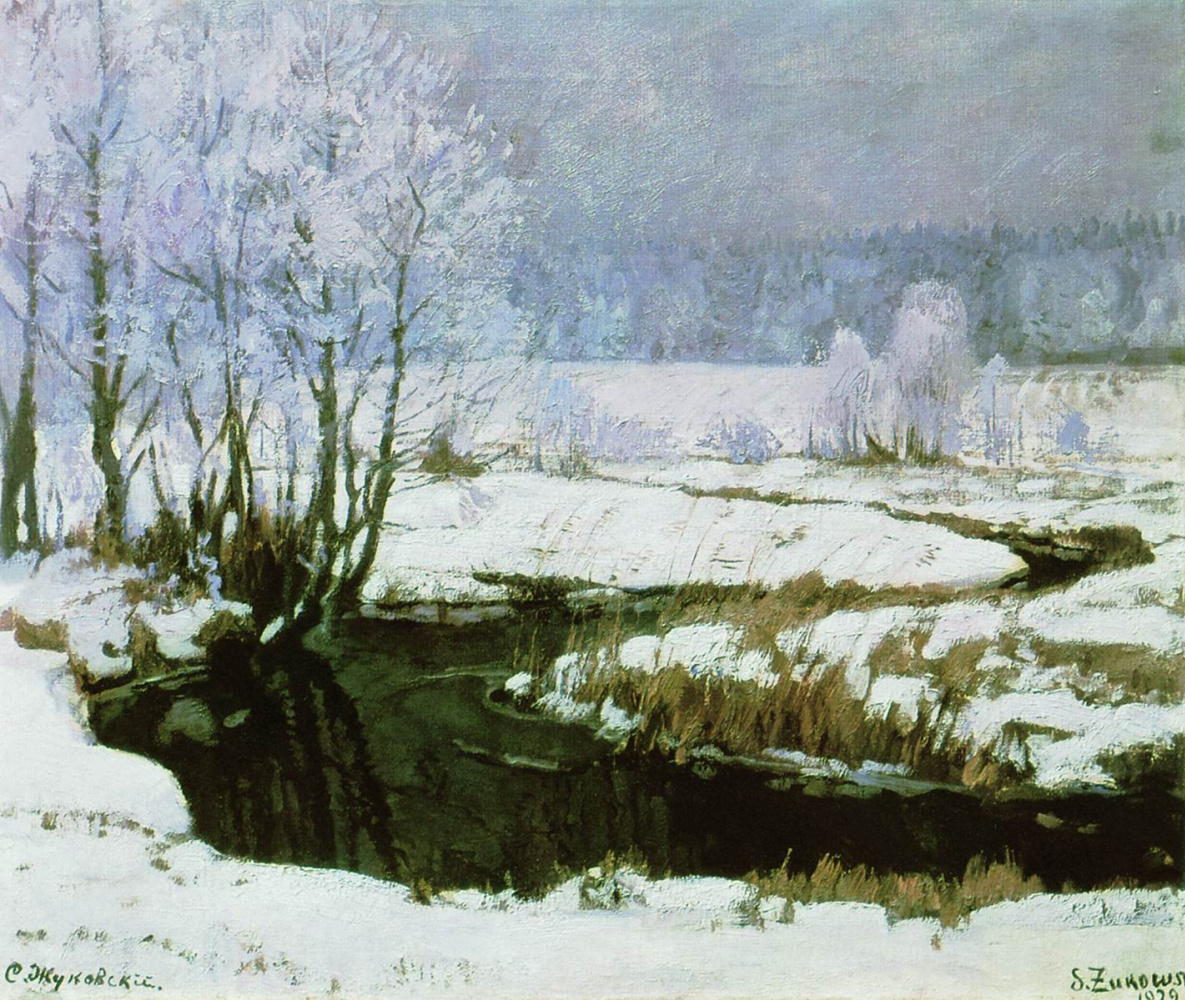 Stanislav Yulianovich Zhukovsky. The beginning of winter
