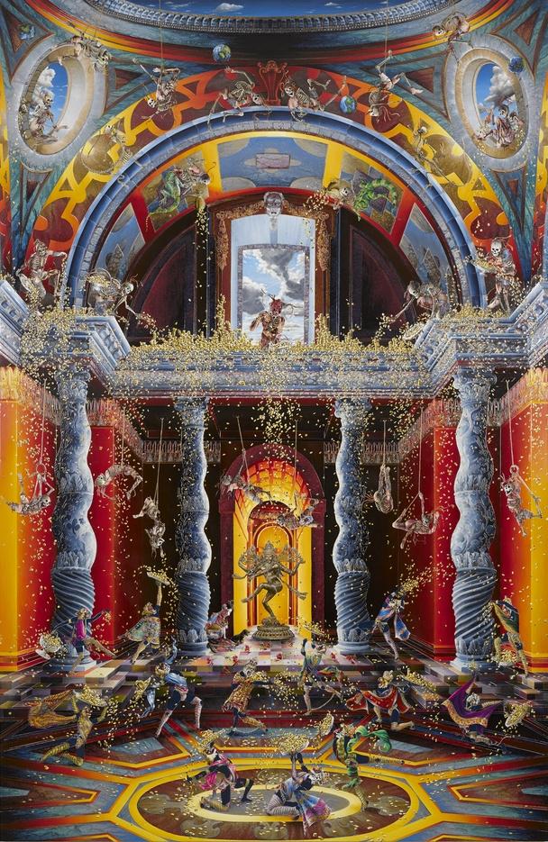 Rakib Shaw. The expulsion from the Temple (inspired by Venusti) II