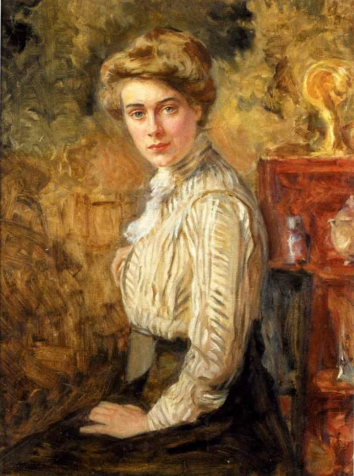 Евгений Иосифович Буковецкий. Portrait of a young woman