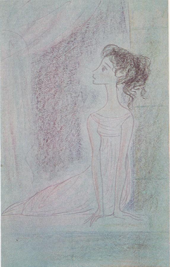 Nadezhda Nikolaevna Rusheva. Наташа на окне в Отрадном