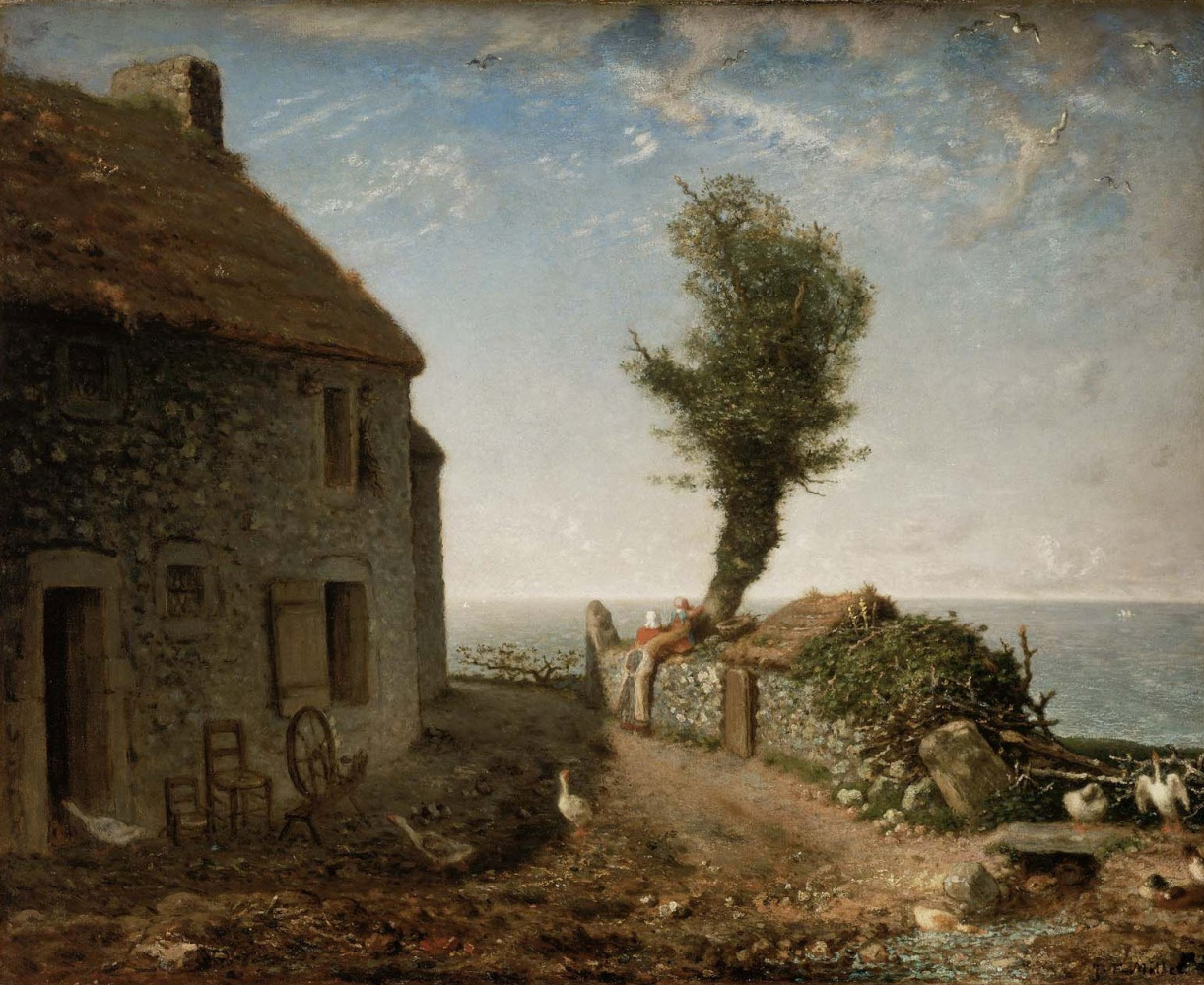 Jean-François Millet. House on the outskirts of Gruchy, Normandy