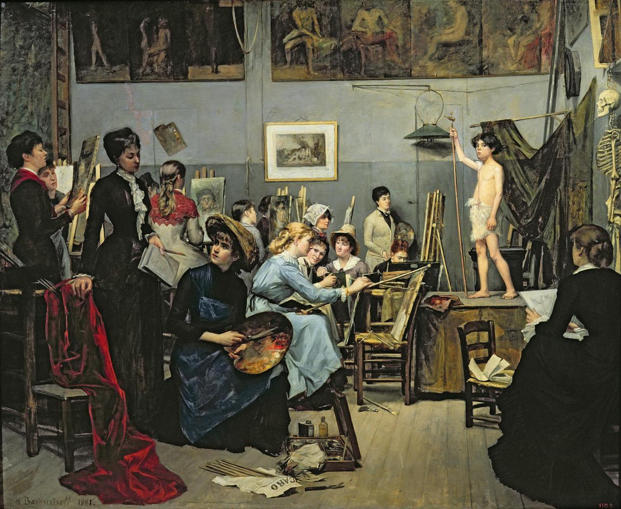 Мария Константиновна Башкирцева. In the Studio. Workshop Juliane
