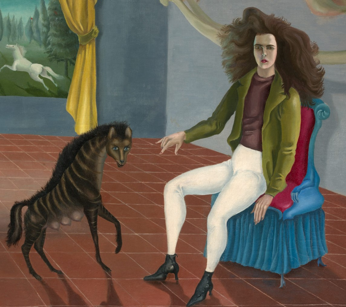 Leonora Carrington. A self-portrait. Fragment