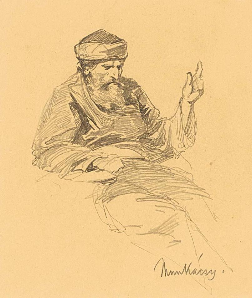 Михай Либ Мункачи. Портрет пожилого араба