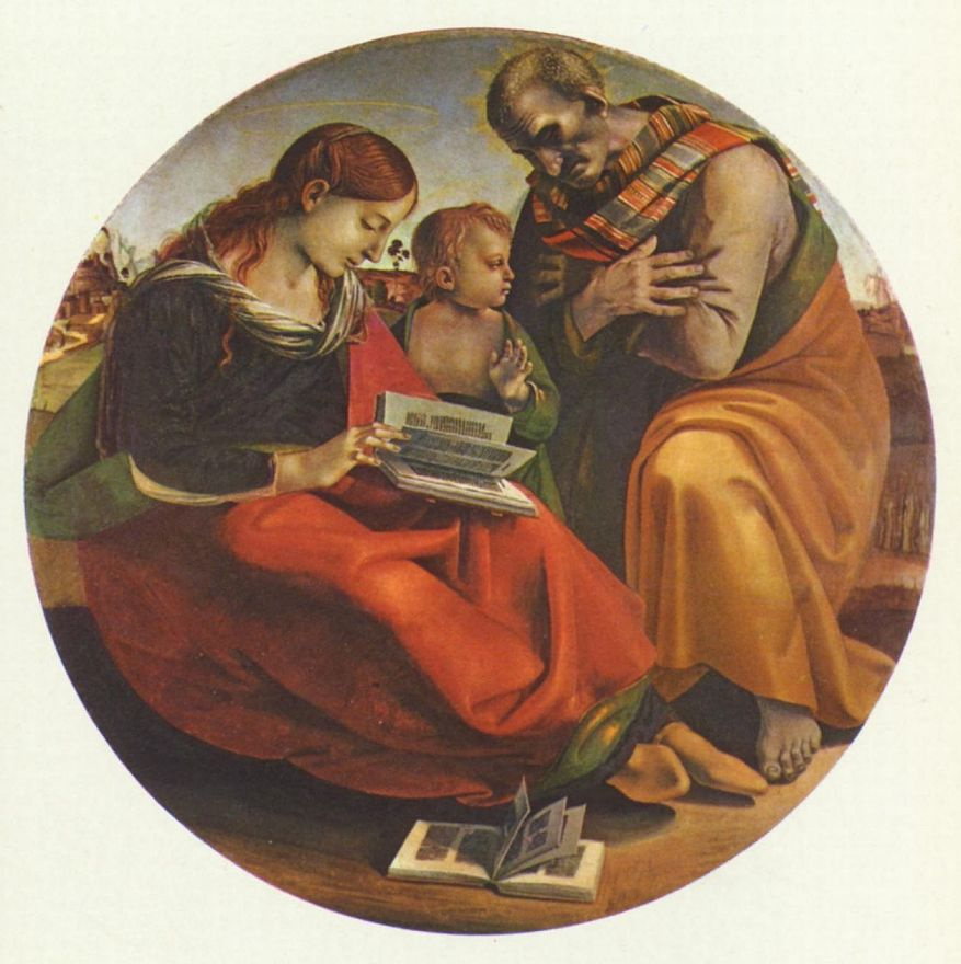 Лука Синьорелли. Святое семейство, тондо