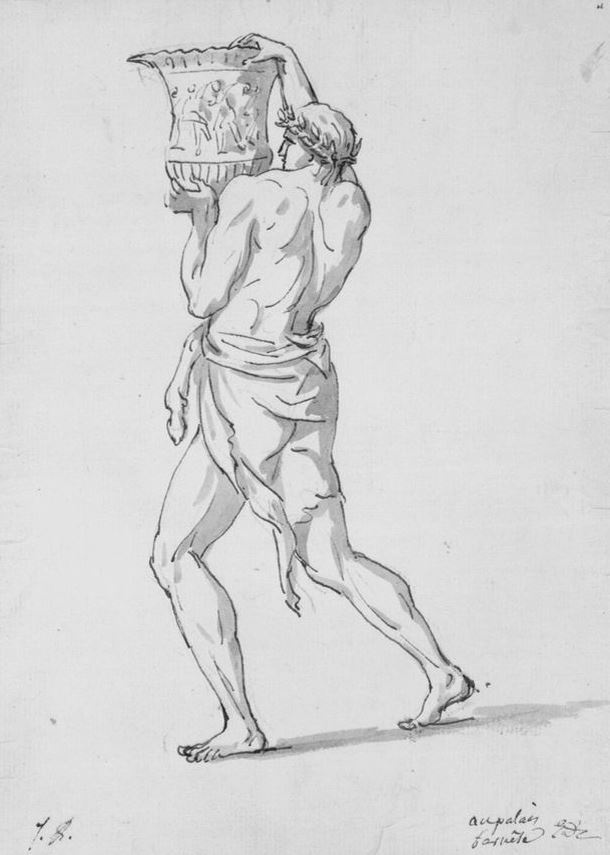 Jacques-Louis David. Roman, carrying the urn