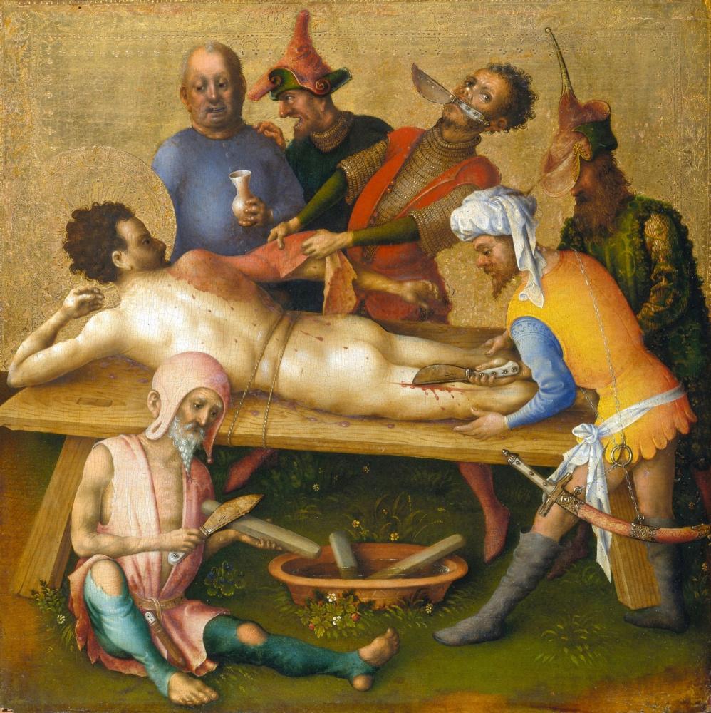Stefan Lochner. Martyrdom of St. Bartholomew.