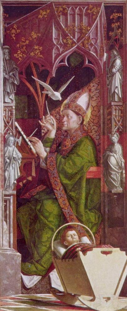 Михаэль Пахер. Алтарь отцов церкви, внутренняя сторона правой створки. св. Амвросий
