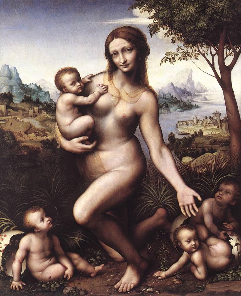 Леонардо да Винчи. Леда