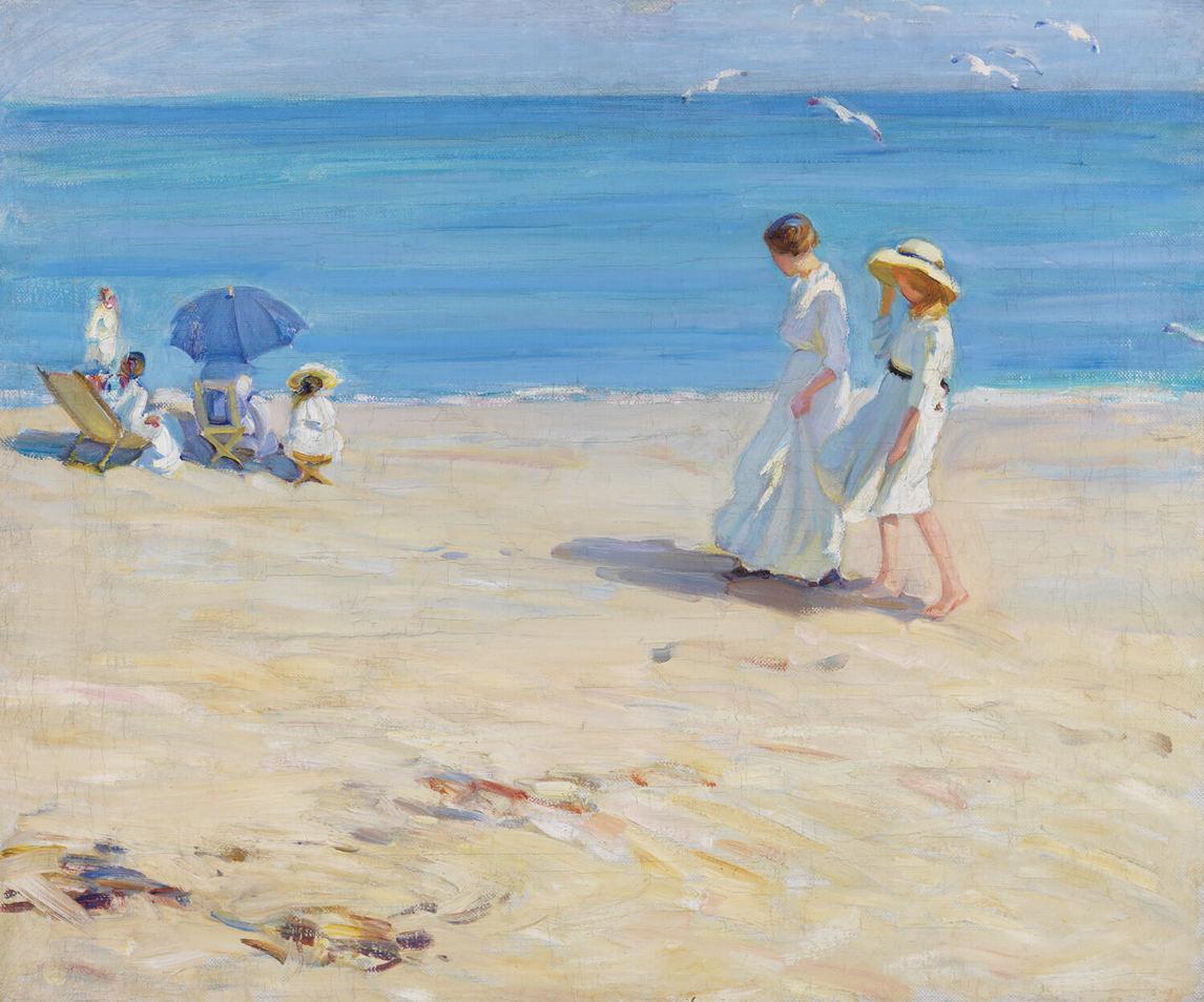 Helen Galloway McNicoll. Blue sea at Saint-Malo beach