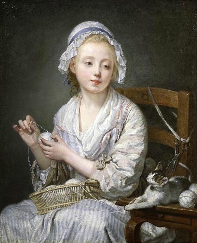 Jean-Baptiste Greuze. Wool Winder