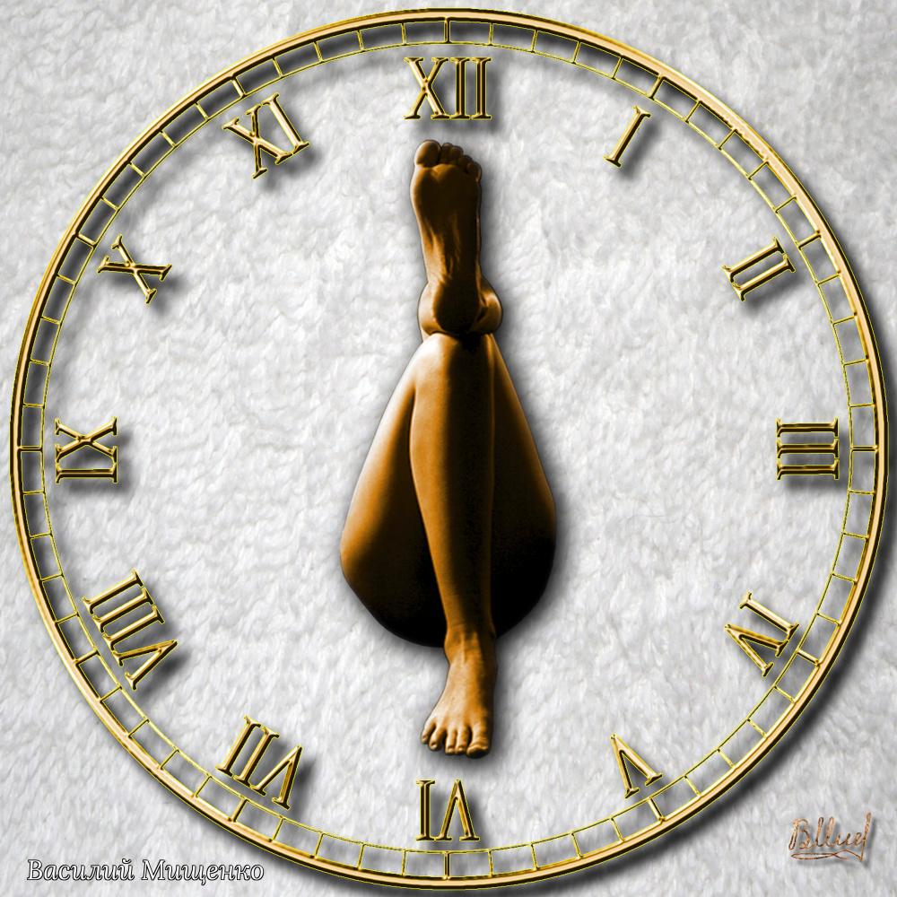 Vasiliy Mishchenko. Beach clock