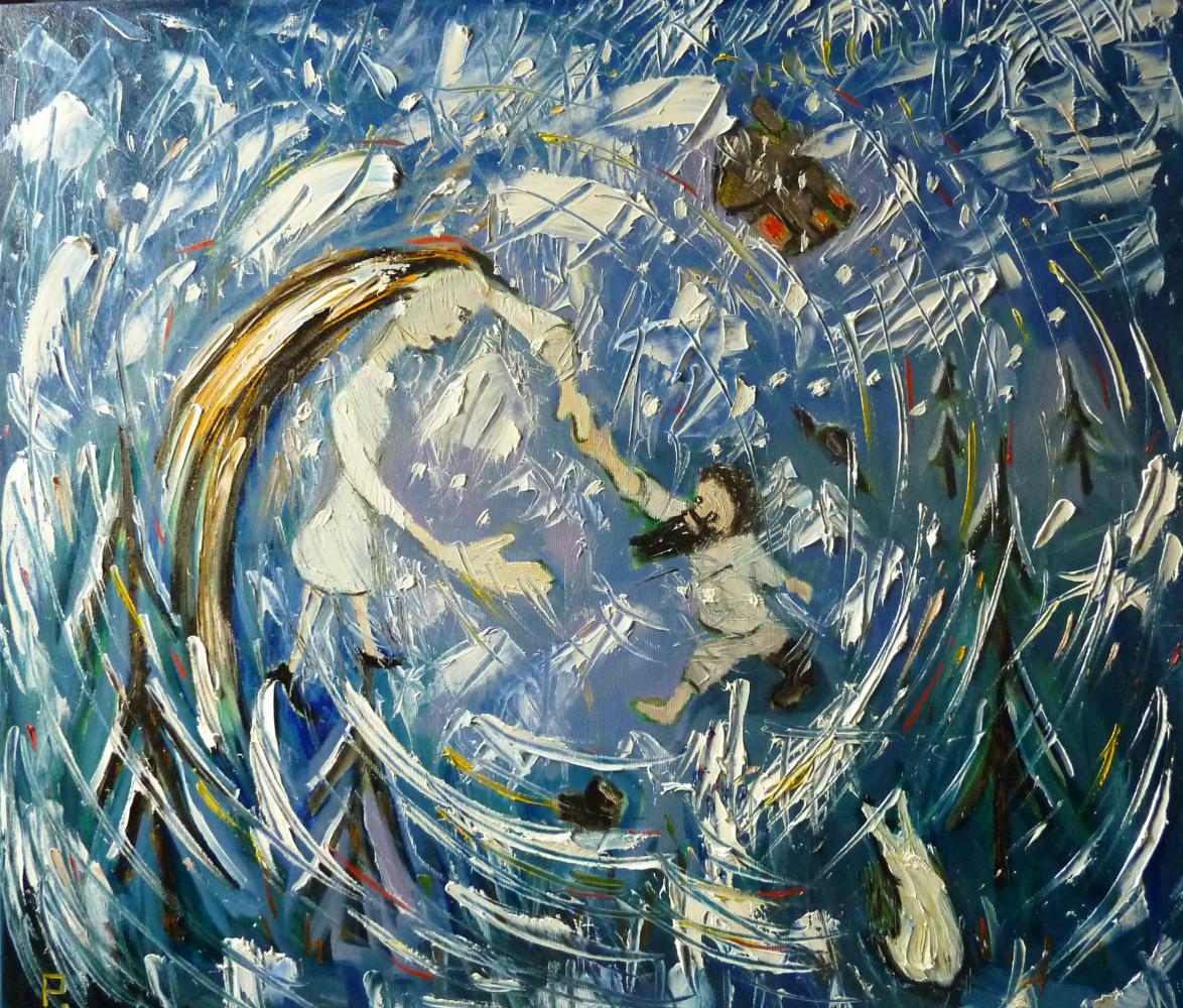 Svyatoslav Ryabkin. A man dances with a snowstorm man dancing with a blizzard