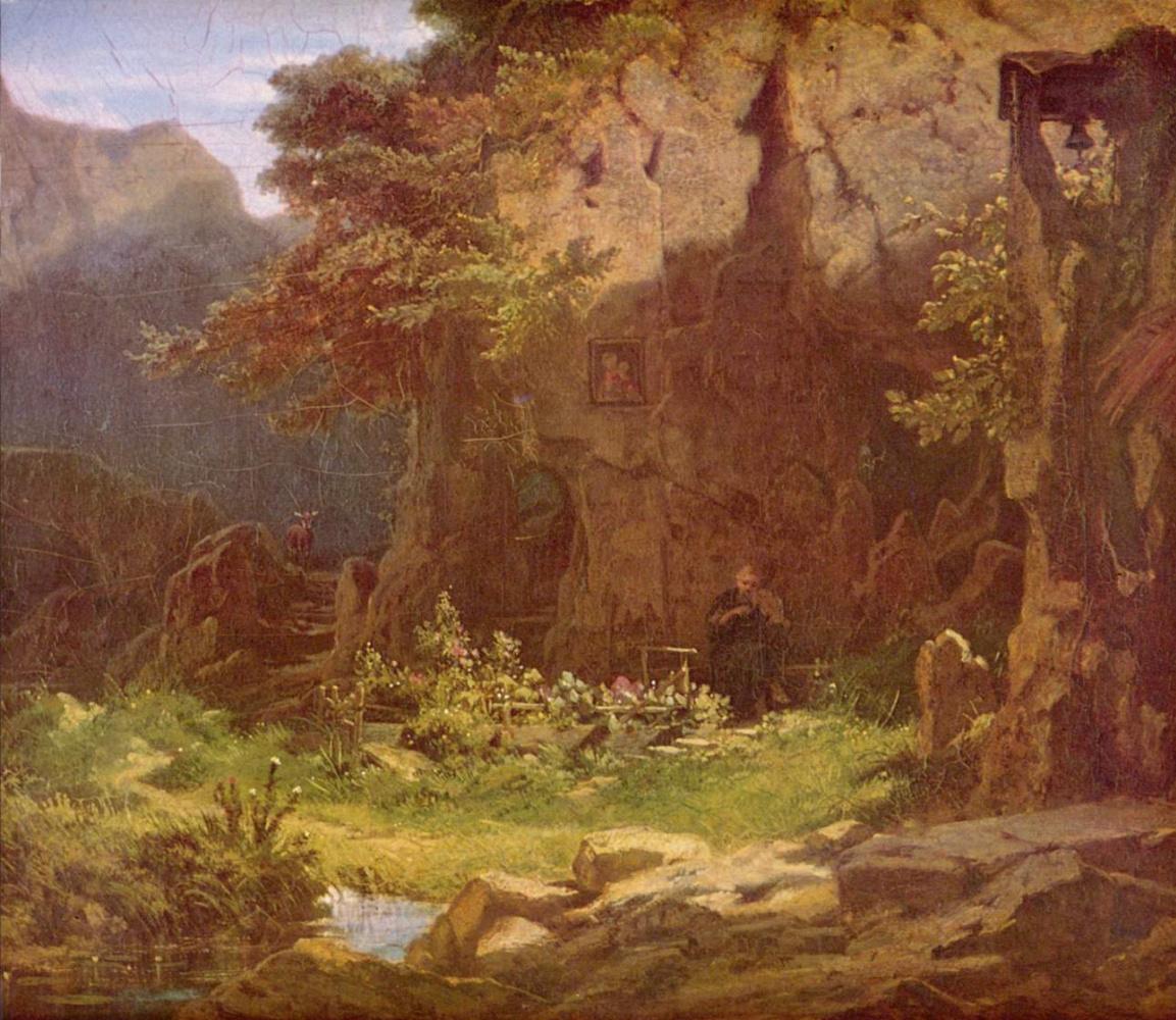 Карл Шпицвег. Отшельник, играющий на скрипке
