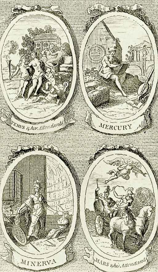 Уильям Хогарт. Венера, Меркурий, Минерва, Марс и его спутники