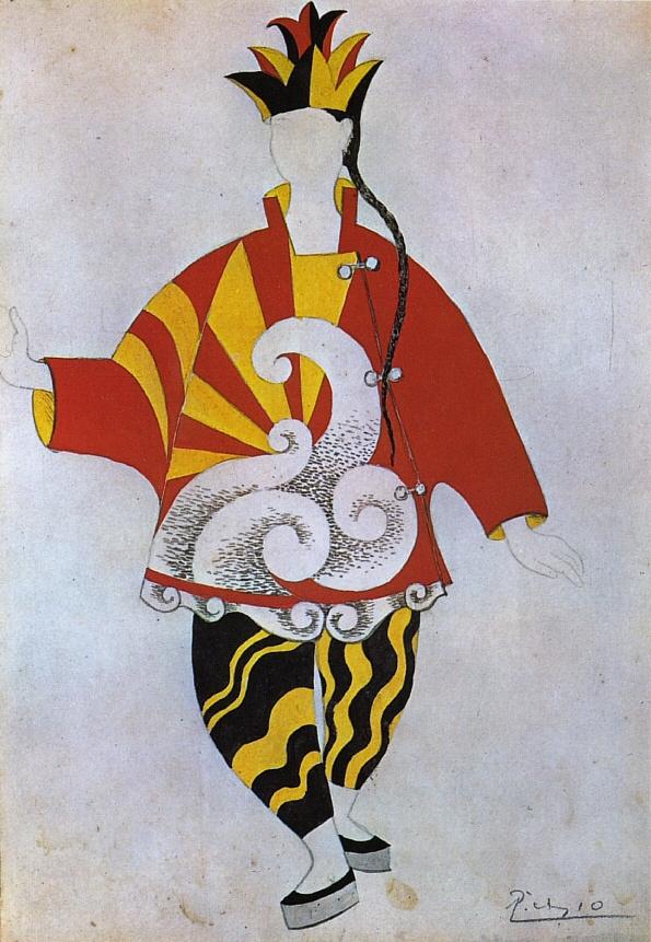 """Пабло Пикассо. Эскиз костюма Китайского фокусника к балету """"Парад"""""""