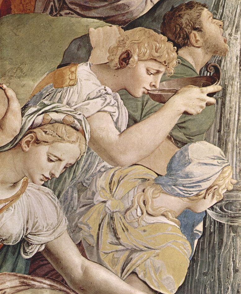 Аньоло Бронзино. Моисей иссекает воду из скалы, фрагмент