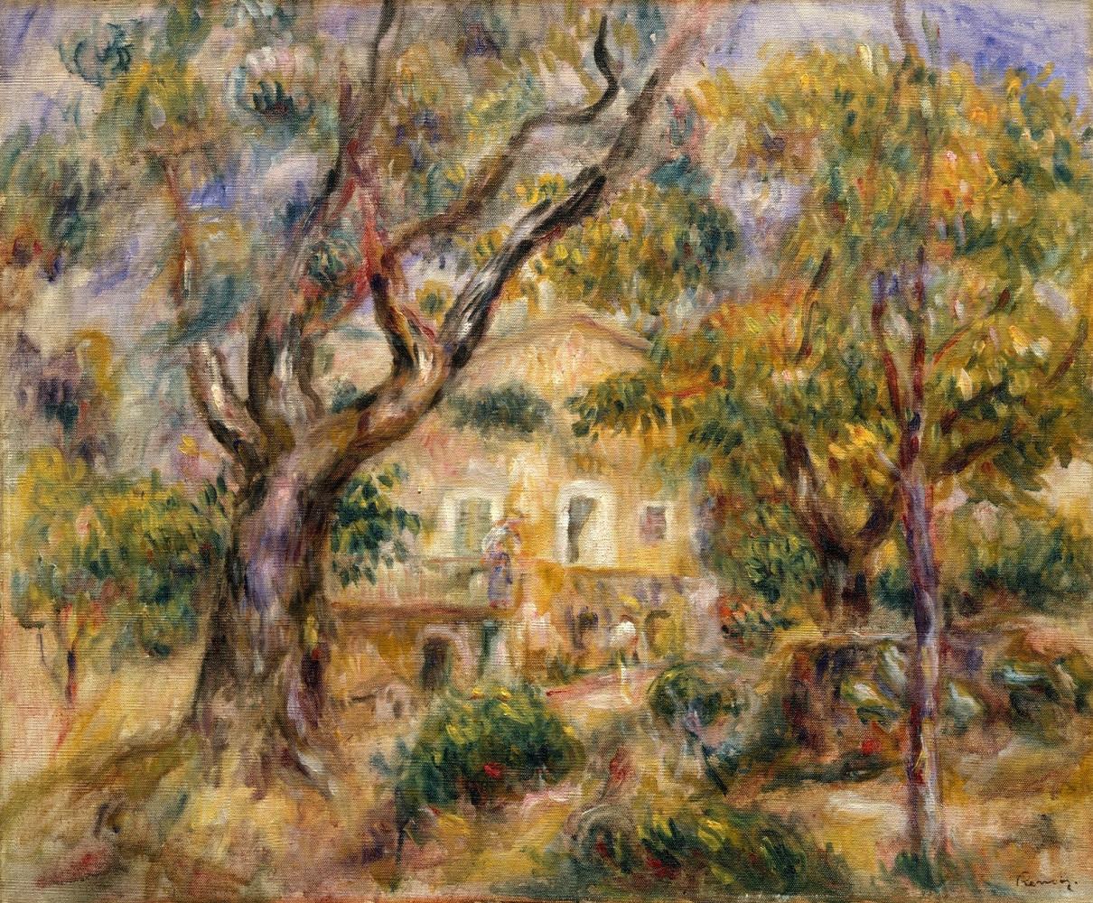 Pierre-Auguste Renoir. Manor Collet, Cagnes sur Mer