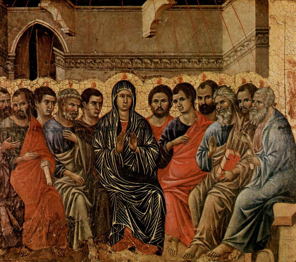 Дуччо ди Буонинсенья. Сошествие Святого Духа на апостолов