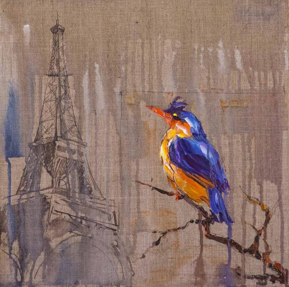 """Jose Rodriguez. Kingfisher. Paris """"Series"""" Traveler Sketches"""