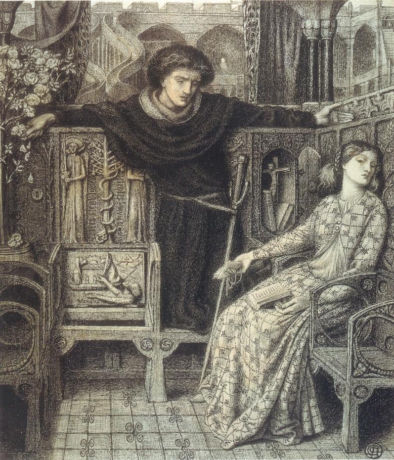 Данте Габриэль Россетти. Гамлет и Офелия
