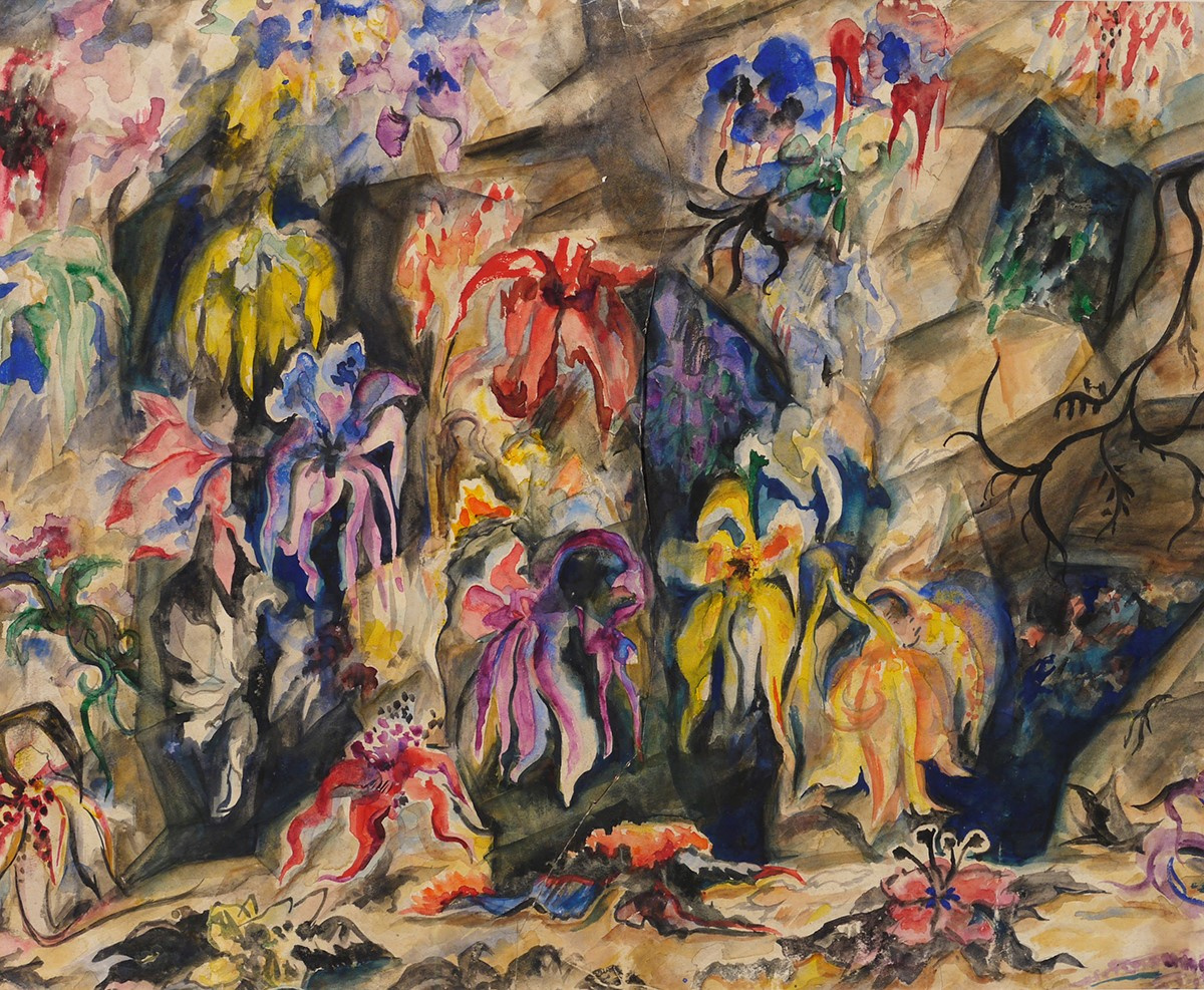 Natalia Goncharova. A sketch of the scenery for the ballet